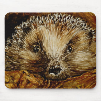 Hedgehog art on a mousemat mouse pad