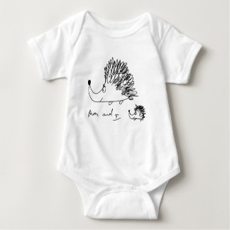 hedgehog baby bodysuit