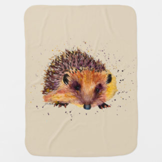 hedgehog baby-covers with sweet water color baby blanket