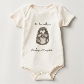 Hedgehog Baby Peekaboo Baby Bodysuit