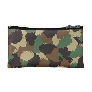 Hedgehog camouflage cosmetic bag