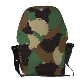 Hedgehog camouflage courier bag