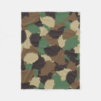 Hedgehog camouflage fleece blanket