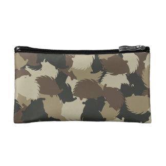 Hedgehog camouflage makeup bags