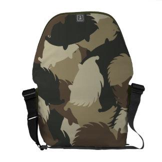 Hedgehog camouflage messenger bags