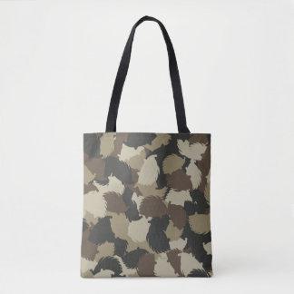 Hedgehog camouflage tote bag