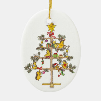 Hedgehog Christmas tree Ceramic Ornament