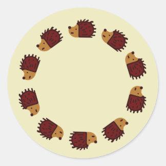 Hedgehog Crossing Stickers