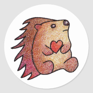 Hedgehog - Crystalized Round Sticker