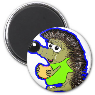 hedgehog dark blue magnet