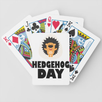 Hedgehog Day - Appreciation Day Bicycle Playing Cards