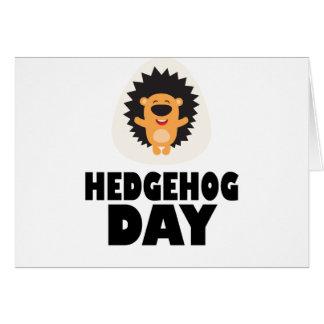 Hedgehog Day - Appreciation Day Card