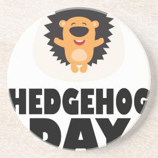 Hedgehog Day - Appreciation Day Coaster