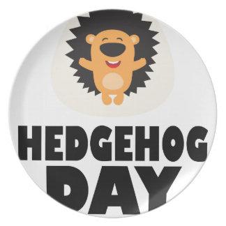 Hedgehog Day - Appreciation Day Plate