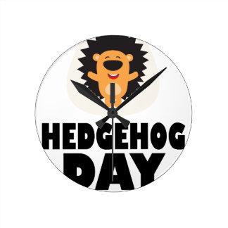 Hedgehog Day - Appreciation Day Round Clock
