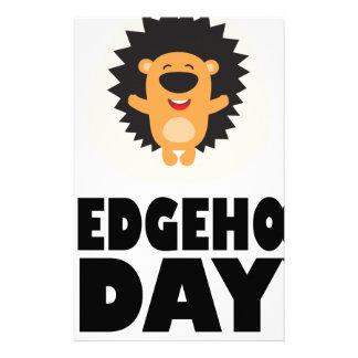 Hedgehog Day - Appreciation Day Stationery