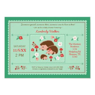 Hedgehog Family Unisex Baby Shower Invitation