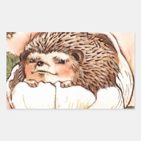 Hedgehog Flower Baby Watercolor