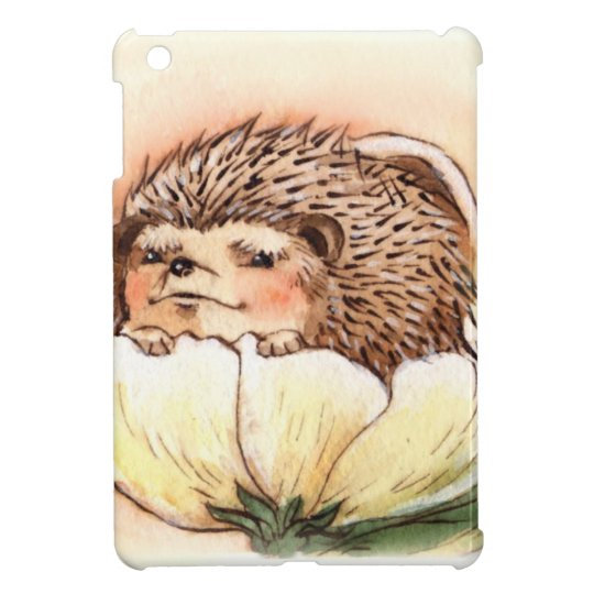 Hedgehog Flower Baby Watercolor Case For The iPad Mini