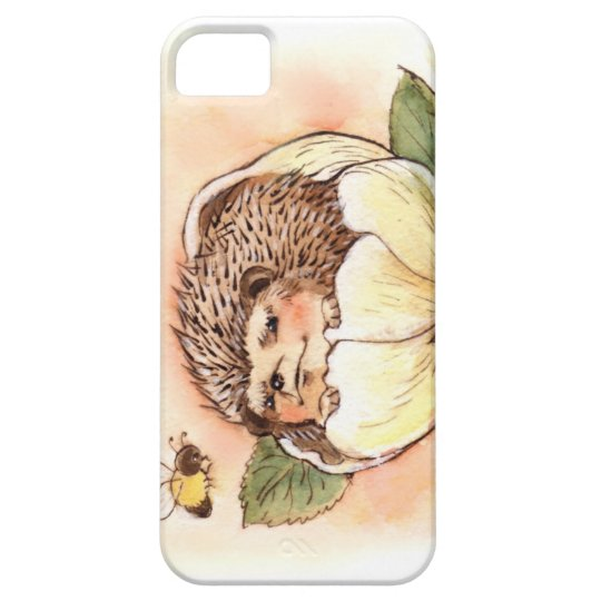 Hedgehog Flower Baby Watercolor Case For The iPhone 5