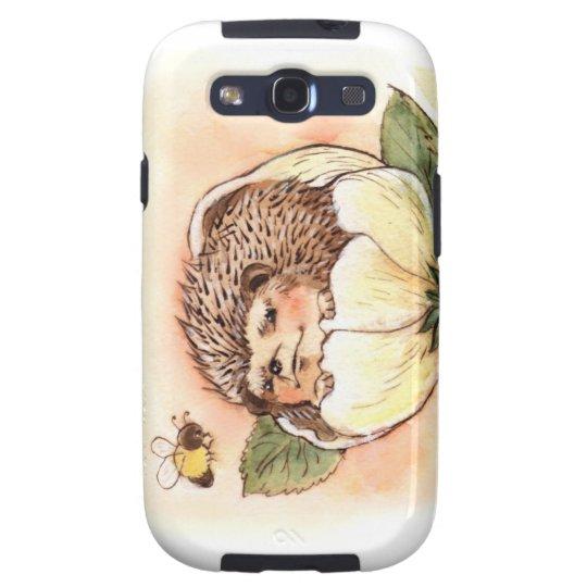 Hedgehog Flower Baby Watercolor Galaxy SIII Cases