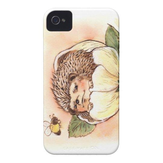 Hedgehog Flower Baby Watercolor iPhone 4 Cases