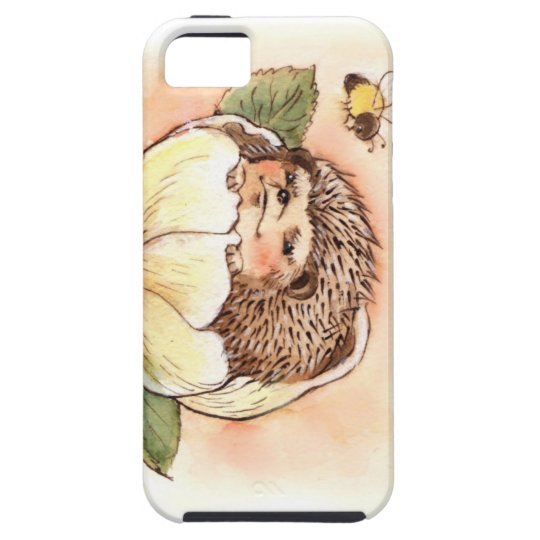 Hedgehog Flower Baby Watercolor iPhone 5 Case