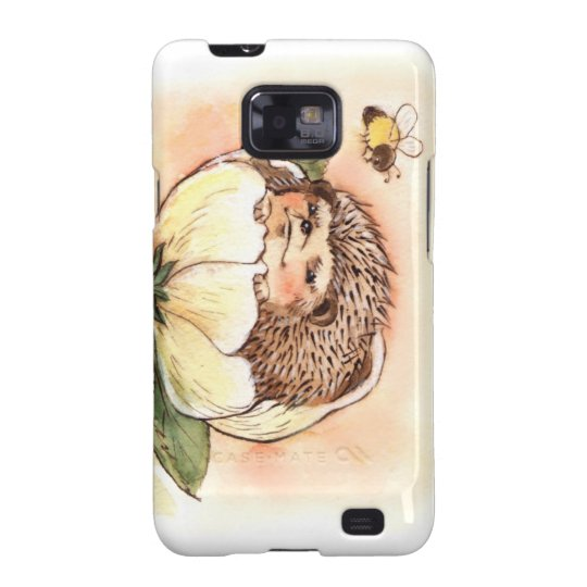 Hedgehog Flower Baby Watercolor Samsung Galaxy S2 Case