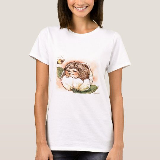 Hedgehog Flower Baby Watercolor T-Shirt