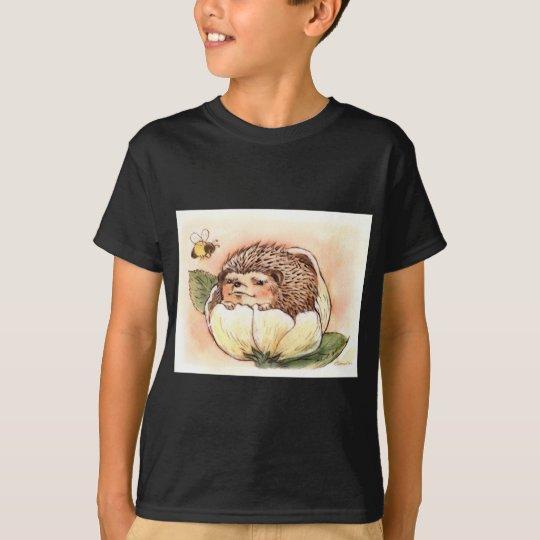 Hedgehog Flower Baby Watercolor T-Shirt