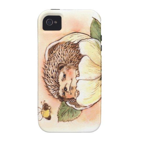 Hedgehog Flower Baby Watercolor Vibe iPhone 4 Case