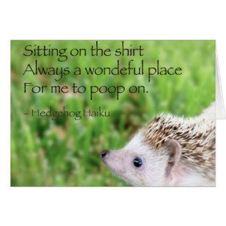 Hedgehog Haiku Card