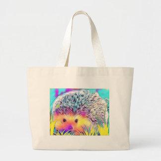 Hedgehog image large tote bag