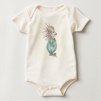 Hedgehog in Overalls Baby Bodysuit