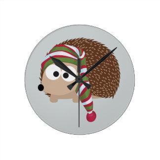 Hedgehog in Sleeping Cap Clock