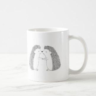 Hedgehog Ink Drawing Cute Hedgehog Friends Love Coffee Mug