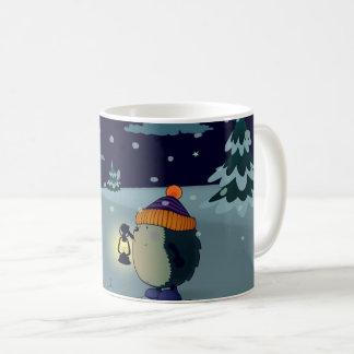 Hedgehog Jan in the winter night Coffee Mug