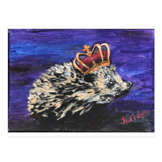 Hedgehog King Postcard