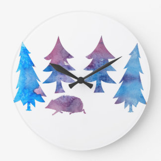 Hedgehog Large Clock