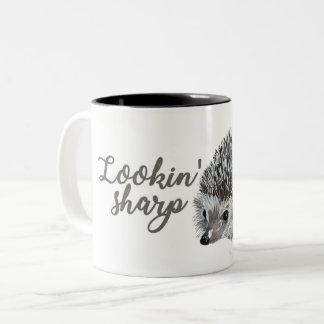 Hedgehog Lookin' Sharp Two Tone Mug
