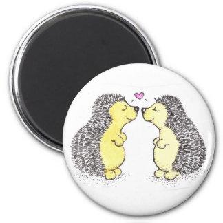 Hedgehog Love 2 Inch Round Magnet