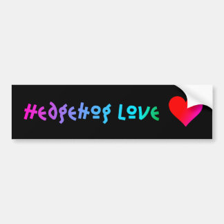 Hedgehog Love Bumper Sticker