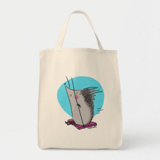 Hedgehog on a Swing Tote Bag
