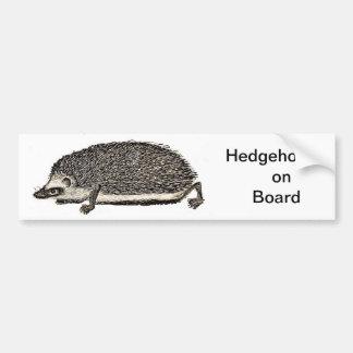 Hedgehog on Board - BUMPER STICKER