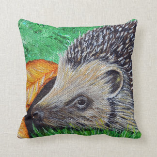 Hedgehog Painting Throw Pillow