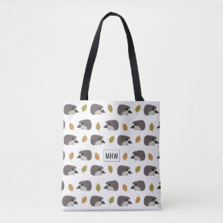 Hedgehog Pattern custom monogram bags