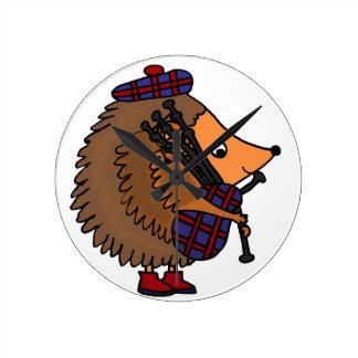 Hedgehog Playing Bagpipes Clocks