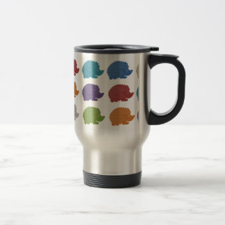 Hedgehog Pop Art Travel Mug