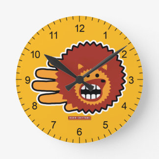 Hedgehog Red Afro Funny Face Wallclock