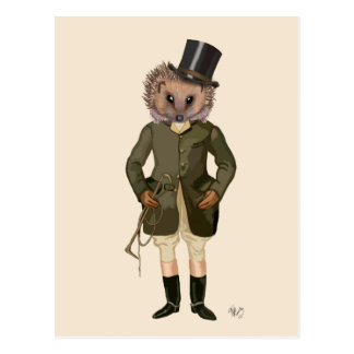 Hedgehog Rider Full 2 Postcard